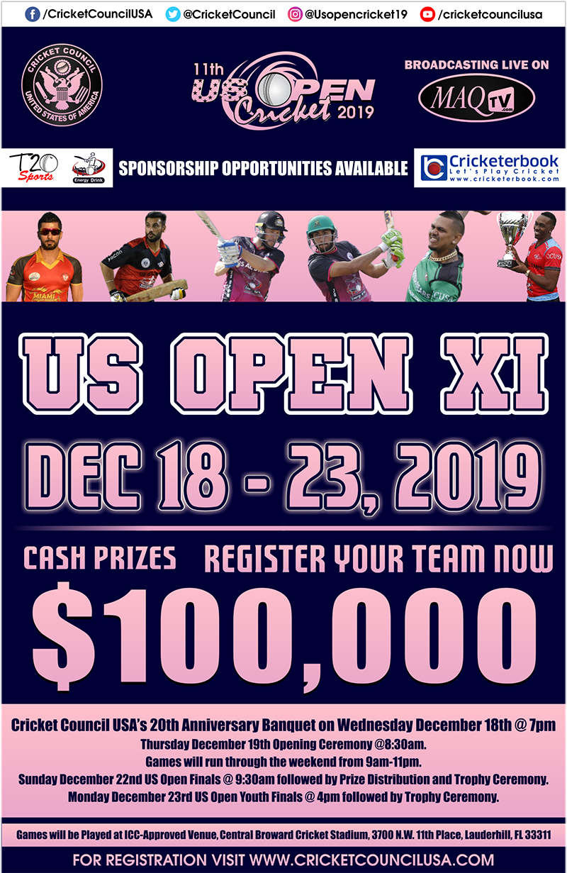US Open cricket 2019